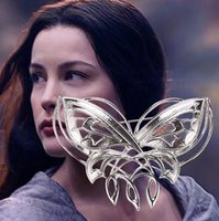 Wholesale Arwen Brooch - lord of the rings jewelry sterling silver Arwen Evening Star Butterfly brooch party dress pins brooches Broche chrismas gift women