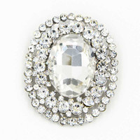Wholesale Cheap Elegant Wholesale Brooches - Elegant Oval Shaped Big Glass Crystal Huge Brooch Top Quality Stunning Brooch Pin For Wedding Bridal Dress Jewelry Broach Cheap Wholesale