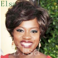 perucas feitas para mulheres negras venda por atacado-Perucas curtas do cabelo humano para as mulheres negras não Perucas naturais do laço BoB Perucas feitas à máquina da cor natural