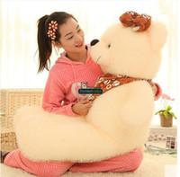 Wholesale Giant Bear 63 - Dorimytrader 63''   160cm Huge Stuffed Scarf Bears Doll Cute Soft Plush Giant Teddy Bear Toy Nice Baby Gift Free Shipping DY60922