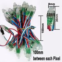 5v ws2811 пиксельная строка оптовых-12 мм WS2811 2811 IC RGB LED модуль строка водонепроницаемый DC 5 в цифровой полный цвет светодиодные пиксель свет Бесплатная доставка