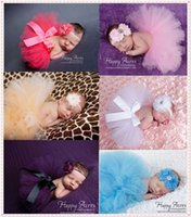 Wholesale Different Baby Dresses - 2015 Cute Baby tutu dress beautiful girl dress for photograph different colors lace princess dress 3-6 months
