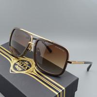 Wholesale Dita Glasses - Wholesale-Dita Sunglasses Men Brand Designer 18K Glod Sun glasses Women and Men Famous Oculos De Sol Masculino Mach One Square glasses