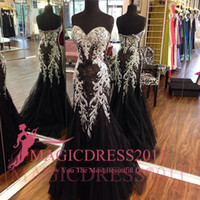 Wholesale Sheer Nude Dress Rhinestones - Sexy Black Lace Evening Dresses Backless Formal Prom Gowns 2016 Special Occasion Dress Mermaid Sweetheart Rhinestones Crystal Arabic Dubai