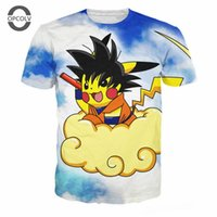 Wholesale Pikachu T Shirt Women - w1219 OPCOLV Hot sale 2016 funny cartoon t shirts pikachu printed t shirts men women summer cool short sleeve casual sport tee shirts