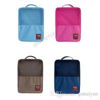 Wholesale Travel Enfoldment Waterproof Shoes Bags - 5COLORSMonopoly Multifunction Shoes Travel Composition bag for Nylon Mesh Bags Enfoldment Waterproof Hanging Bag LB40