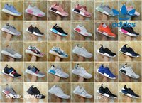 Wholesale Raw Yellow - Adidas NMD R1 Primeknit Runner Raw Pink Japan Boost Tri Color SNS Datamosh Men Women Running Shoes Sport Fashion Nmds Mesh Tennis Trainer
