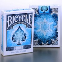 Papel De Cartas Baratos-Bicycle Frost Playing Cards 88 * 63mm Blue Paper Tarjetas Magic Poker Card Magic Trick