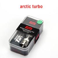 sub bobinas do ártico venda por atacado-Autêntico Horizon Ártico Turbo Sub-Ohm Tanque 3.5 ML Atomizador com Sintupla Bobina Intuitiva Top Turbina Sistema De Refrigeração RBA Cabeça