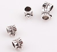 Wholesale European Bail Beads - NEW Arrival Antique Silver Bail beads Spacer Beads for Dangle Charms Fit European Bracelet BE338