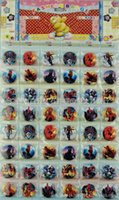 Minion mario Prix-2015 48pcs Badge étudiants Garçons et Filles Jouets Mode Frozen Minion Superman Batman Enfants Badges / Set livraison gratuite