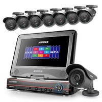 """Wholesale Security Camera System 8ch - ANNKE 10.1"""" LCD 8CH AHD DVR 720P Night Vision Home Security Cameras System With 8*900TVL Cameras"""