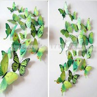 New Arrival Pastoral 3d Decal Wall Stickers Home Decor Room Decorations Butterfly Sticker Art Design Lowest Price