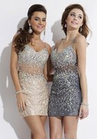 Wholesale Cheapest Pink Cocktail Dress - Emma Cheapest Fast shipping Gorgeous Sparkling Bling Full beaded Sexy Short Mini Prom Dresses 2015 Pageant Dress Cocktail Gown Pageant Gowns