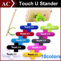 Wholesale best tablet online - Universal Portable Mount Cellphone Touch U One Touch Silicone Stand Holder Stander For iPhone Samsung HTC Sony Mobile Phone iPad Tablet Best