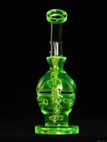 Wholesale Best Green Designs - 2016 newest design glass bongs water pipes inline percolater smoking glass pipes best quality skull water bong grace green free shipping