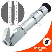 Wholesale Heavy Duty Scales - Wholesale-NEW 0-80% Wide Range Heavy Duty Brix Dual Scales Refractometer Syrup Jam CNC Fruit Juice Sucrose