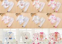 Wholesale wholesale pyjama - Baby kids pyjamas boy girl long sleeve pajama set 100% cotton sleepwear pyjamas kids autimn spring pajamas 12 styles 18sets