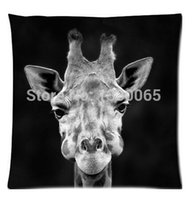 Wholesale Throw Pillow Sale Free Shipping - Top Sale DIY giraffe Bed Setting 45X45 cm Throw Pillow Cases Free Shipping