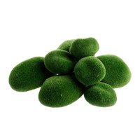 8pcs Verde Artificial Moss Stones Hierba Planta Poted Home Garden Decor Paisaje