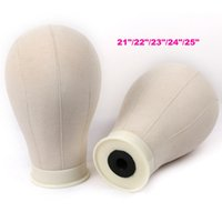 Wholesale Make Offer - WYF Offer Mannequin Head For Wigs 21-25inch Canvas Block Wig Head For Wig Making Styling Wholesale Price White Color