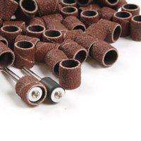 Wholesale Rotary Sanding Bands - 100pcs Sanding Bands Sleeves & 2 Mandrels For DREMEL Rotary Kit 1 2, 6.35 9.5mm(14090022001)