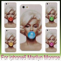 """Wholesale Marilyn Monroe Iphone - For Iphone6 cases -Stylish Marilyn Monroe Blowing balloons Bubble Gum Style Print For Apple Iphone 6 plus 4.7 """" 5.5"""""""