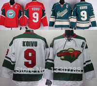 Wholesale Cheap Wild Hockey Jerseys - 2016 New, Best Quality Minnesota Wild Jersey #9 Mikko Koivu Home Red White Road Green Alternate Discount Cheap Mens MN Wild Hockey Jer