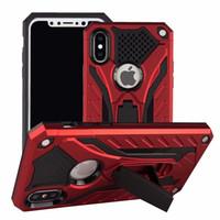 hybrid case al por mayor-Carcasa híbrida Armor Kickstand Cubierta del teléfono para iPhone XR XS Max X 8 7 Plus Samsung S10 Lite S9 J2 Core A6 2018 Nota 9 LG Stylo 3 4 MOTO E5 OPP