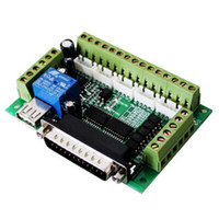 Wholesale Cnc Axis Interface Board - MACH3 Interface Board CNC 5 Axis With Optocoupler Adapter Stepper Motor Driver High Quality Motor Accessories