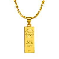 Wholesale Mans Pendent - 2016 hip hop Jewelry GOLD WE TRUST bar pendent jewel necklace 18k real gold filled men women chain N192