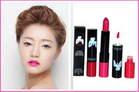 Wholesale Makeup Monroe - New Released Makeup Marilyn Monroe 2 in 1 lustre lipstick kissable lip colour 12pcs Free shipping high quality from faststep 24pcs hot sell