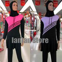 Wholesale hijab s - Summer solid color muslim islamic swimwear arabic swimsuit,full cover,abaya,maillot de bain,hijab separately
