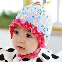 Wholesale Infant Baby Bucket Hat Wholesale - Baby Hat Infant Boys Girls Caps Hats Fashion Flower Beanie Hat Caps Kids Cap 2016 Spring Bucket Hat Kids Hats Children Caps