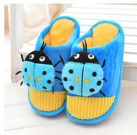 Wholesale Private Shoes - Wholesale-Qiu dong cotton slippers Cartoon upset large and medium-sized Private antiskid slippers to keep warm cotton shoes