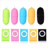 Wholesale Wireless Bullet Egg - 20 Speeds MP3 Wireless Remote Control Vibrating Egg Bullets Vibrator Products Adult Sex Toys For Woman Remote Dildo Women Clitoris G Spot
