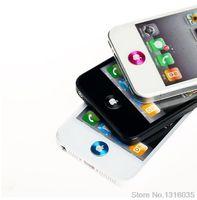 renkli iphone çıkartmaları toptan satış-Toptan Satış - iphone 4 4S 5 5S 6 iPad 2 3 4 5 boton para pegatina Toptan-2015 4 Renk popüler cep telefonu metal Alüminyum ev düğmesi etiketi