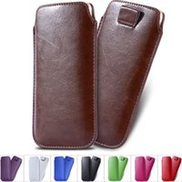 Wholesale Iphone Phone Only - Only $1.99 Phone Cases For iPhone 3 3G 4 4S 5 5S 5C Universal Fashion Pull Tab Sleeve Pouch PU Leather Case Sleeve Black Brown
