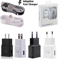 Wholesale ac charging cable for sale – best Car charger QC3 Eu US Fast Adaptive Charging Ac home wall charger M Ft usb cable for samsung s6 s7 edge note with box