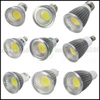 Wholesale Dimmable Globe Mr16 Led - Dimmable COB Led Bulbs 6W 9W 12W Led Spotlight Lamp 110-240V GU10 E27 E14 GU5.3 MR16 12V Warm Cool White Downlight CE ROHS CSA UL LLWA026