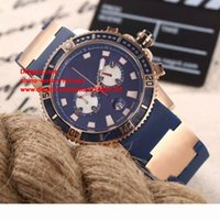 Wholesale Mens Mechanical Chronograph Divers Watches - 5 Color Luxury High Quality Watch 46mm UN 48mm Diver Series 18k Rose Gold Sapphire Glass VK Quartz Chronograph Working Mens Watch Watches