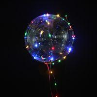 globo claro de la boda al por mayor-Longitud 3 M 18 pulgadas globo claro de la burbuja con la tira llevada alambre de cobre luminoso llevó los globos para las decoraciones de la boda fuentes de la fiesta de cumpleaños