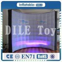 Wholesale good backdrops for sale - Group buy Good Quality m m Wedding Party With LED lighitng Inflatable Photo Booth Backdrop Inflatable Wall For Sale