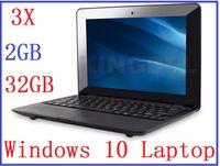 "Wholesale Cheap Windows Laptop Netbook - dhl 3pcs New cheap 10 inch Dual core Netbook with HDMI Slot 2GB RAM 32GB Windows system 10"" Mini laptop High Quality laptops"