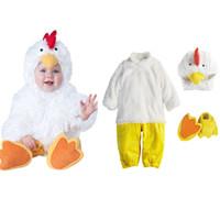 roupas para cachorros venda por atacado-Adorável Animal Halloween Outfit para o Bebê crescer Infantil Meninos Meninas Bebê Fancy Dress Cosplay Tubarão / Pink Monstro / Rosa Dog / White Chick