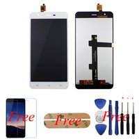Wholesale Film Assembly - Wholesale-100% Original White For Jiayu S3 LCD Display+Touch Screen Glass Panel Digitizer Assembly Replacement+Free HD Clear film