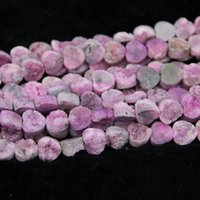 Wholesale Pink Agate Gemstone Beads - 10mm 15.5inch strand Titanium Pink Druzy Agate Bead Natural Gemstone Crystal Quartz Druzy Agate Necklace Pendant Jewelry Make Connector