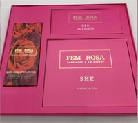 Wholesale christmas cosmetics - Fem Rosa Karrueche X Colourpop Cosmetics Set 12 color SHE Eye shadow Palette 3 color HER Highlighter Mixed Finish Lip Matte lipstick Makeup