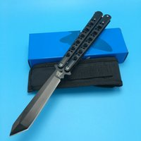 Wholesale Folding Box Spring - Benchmade BM47 Butterfly Black Edition Balisong Spring Latch Outdoor Tactical gift knife knives new in original box BM42 43 41 47 3300 3350