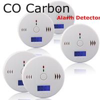 carbon monoxide alarm al por mayor-Probador de Monóxido de Carbono CO Detector de Alarma Advertencia Detector de Gas Gas Envenenamiento Detectores Pantalla LCD Vigilancia de Seguridad Alarmas de Seguridad en el Hogar
